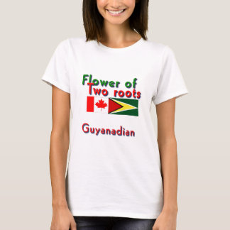 Flower of two roots guyanese-canadian T-Shirt