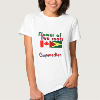 Flower of two roots guyanese-canadian t-shirts