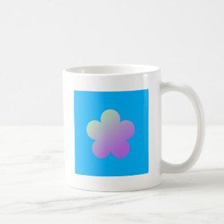 Flower on a blue background. coffee mug