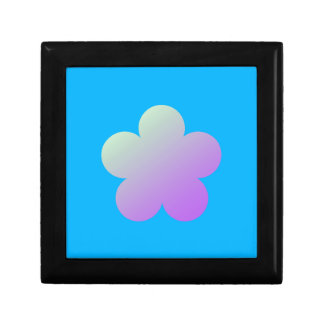 Flower on a blue background. gift box