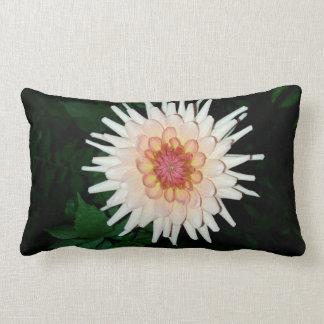 flower on a cool night lumbar pillow