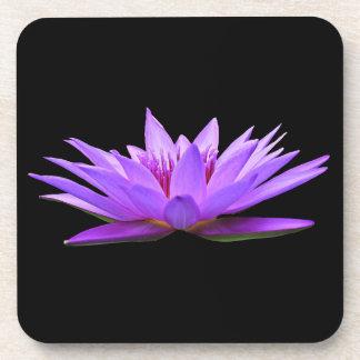 Flower On Black Coaster
