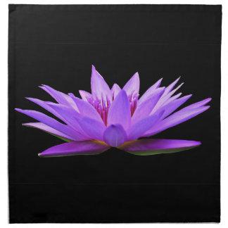 Flower On Black Napkin