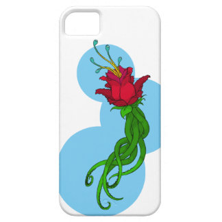 Flower on Blue Case For The iPhone 5