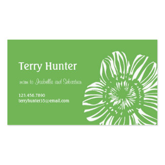 Flower on Green Background Pack Of Standard Business Cards