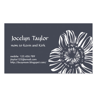Flower on Grey Background Pack Of Standard Business Cards