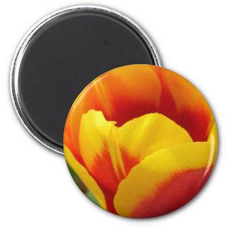 Flower One 2 Inch Round Magnet