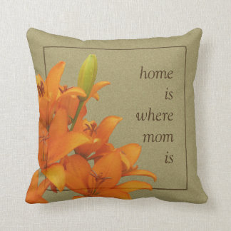 Flower Orange Lilies for Mom Throw Pillow