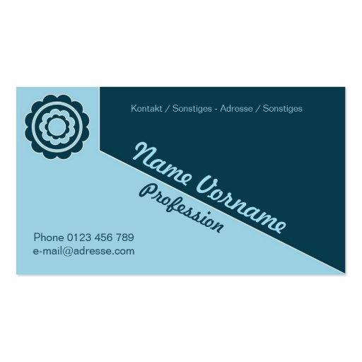 Flower ornamentation business card template