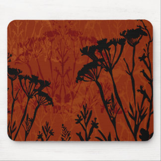 Flower Outline Mouse Pad