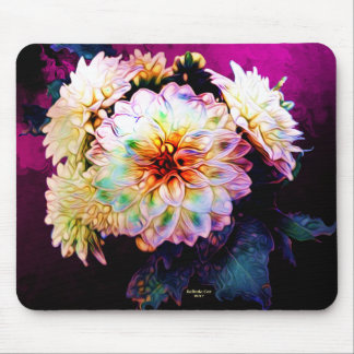 Flower Painted Mouse Pad Painting by Artful Oasis