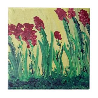Flower Painting Ceramic Tile