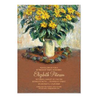 Flower Painting Fine Art Retirement Party Card