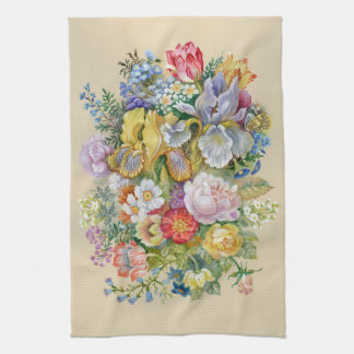 Flower Painting Kitchen Towel