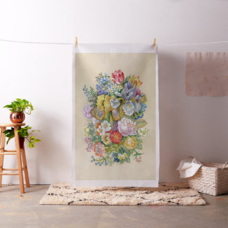 Flower Painting Tapestry Fabric