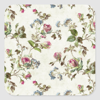 Flower Paper Iamge Square Sticker