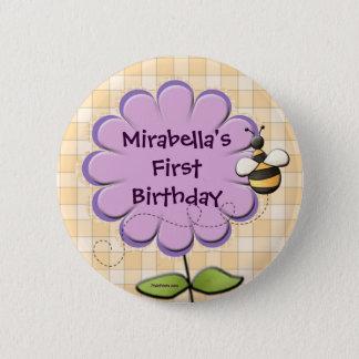 Flower Patch Button