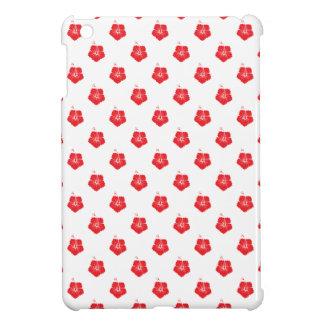 Flower Pattern 3 Red iPad Mini Cases