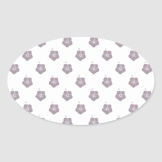 Flower Pattern 3 Sea Fog Sticker