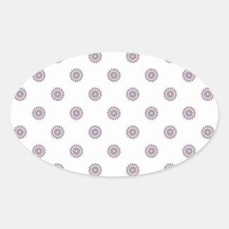 Flower Pattern 4 Sea Fog Stickers