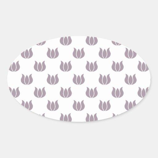 Flower Pattern 5 Sea Fog Sticker