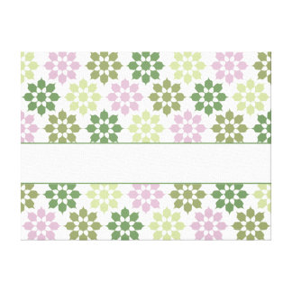 Flower Pattern canvas print, customize