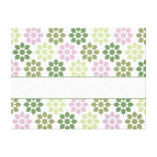 Flower Pattern canvas print, customize