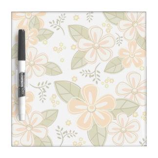 Flower Pattern Dry Erase Whiteboard