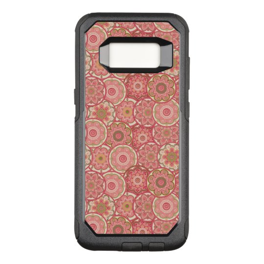 Flower Pattern Four OtterBox Commuter Samsung Galaxy S8 Case