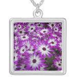 Flower pattern, Kuekenhof Gardens, Lisse, Silver Plated Necklace