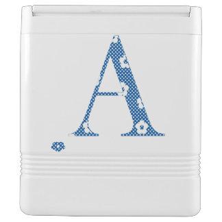 Flower Pattern Letter A (blue)