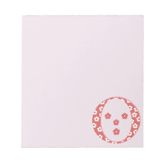 Flower Pattern Letter O(red) Notepads