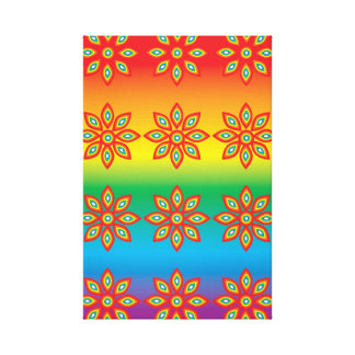 Flower Pattern on Pride Background Canvas Print