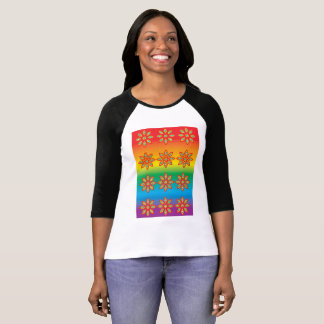 Flower Pattern on Pride Background T-Shirt