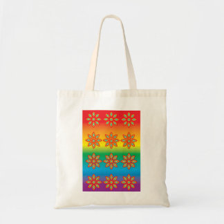 Flower Pattern on Pride Background Tote Bag