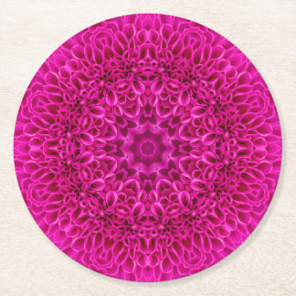 Flower Pattern  Pulp board Coasters, 2 shapes Round Paper Coaster