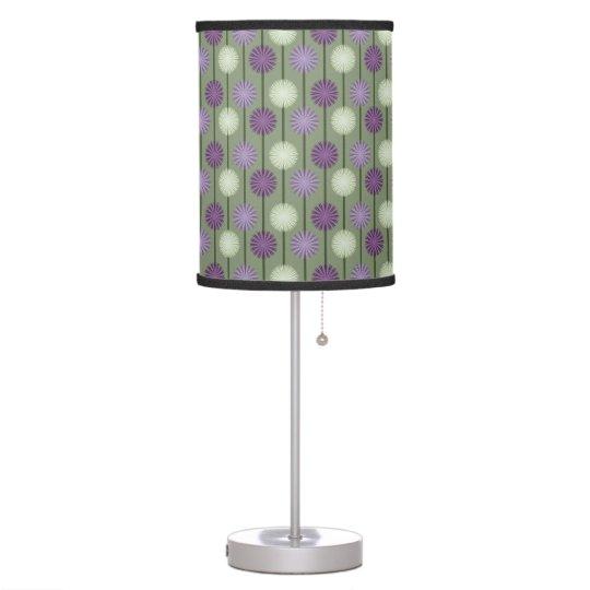 Flower Pattern Purple Alliums Table Lamp