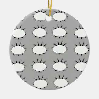 Flower pattern round ceramic ornament