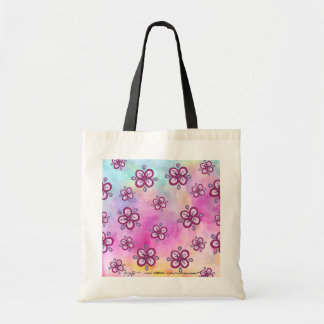 Flower pattern Watercolor background Tote Bag