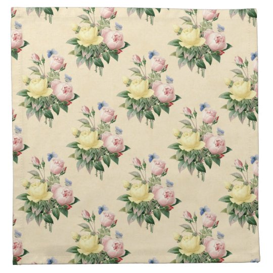 Flower pattern with beautiful roses cloth napkin