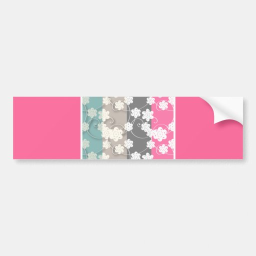 flower_patterns bumper stickers