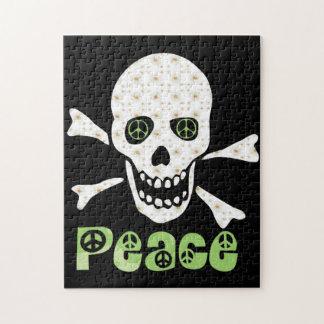 Flower Peace Skull Jigsaw Puzzle