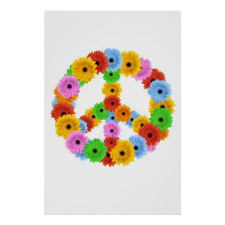 Flower Peace Symbol Poster
