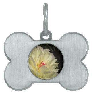 flower pet ID tag
