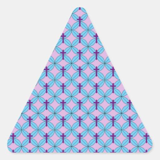 Flower Petal Cross Triangle Sticker