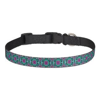 Flower Petal Mandala Design Pet Collar