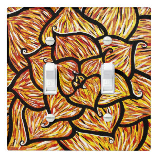 Flower Petals Floral Light Switch Cover