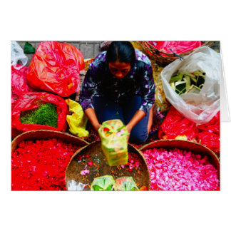 Flower Petals for Offering, Bali Card