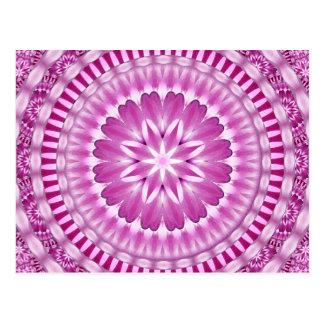 Flower Petals Mandala Postcard