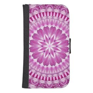 Flower Petals Mandala Samsung S4 Wallet Case